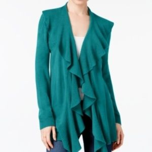 Karen Scott XLarge Lux Soft Ruffled Cardigan
